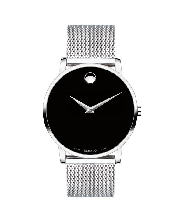 Movado   Museum Classic Men's Stainless Steel Mesh Bracelet Watch With Black Dial