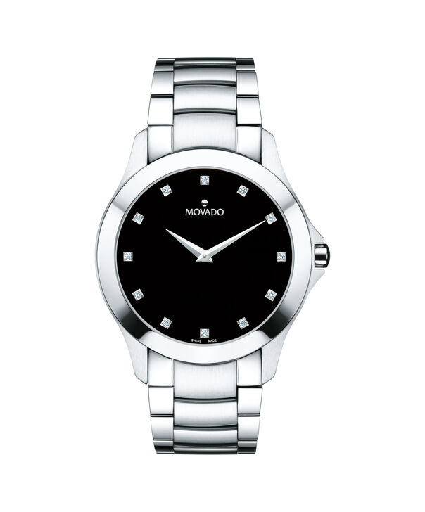 MOVADO Masino0607036 – Montre-bracelet à cadran de 40 mm pour hommes - Front view