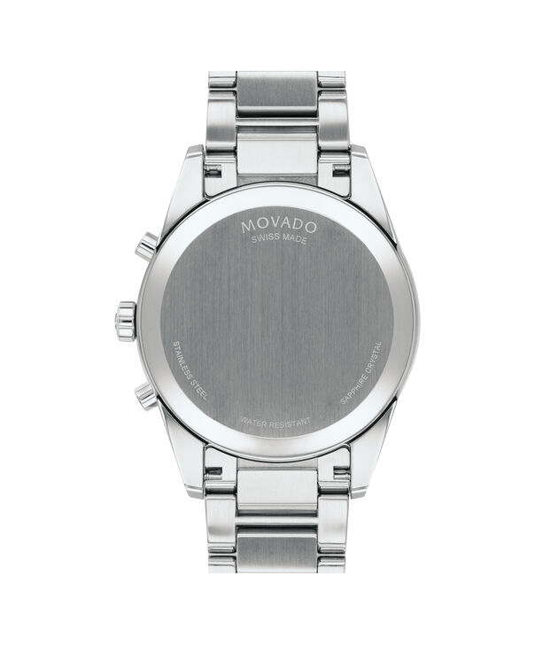 MOVADO Stratus0607248 – Men's 42 mm bracelet chronograph - Back view