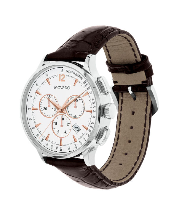 MOVADO Movado Circa0606576 – Chronographe de 42 mm avec bracelet souple pour hommes - Side view