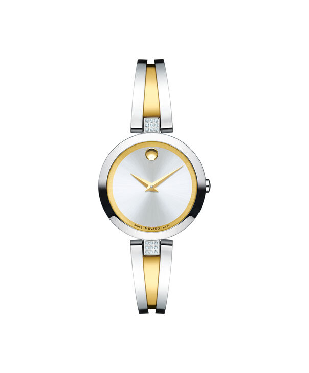 Movado | Aleena Women's stainless steel and yellow gold PVD-finished Stainless Steel Bangle Watch