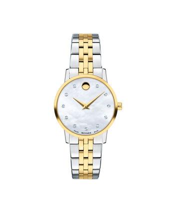 MOVADO Museum Classic0607208 – Montre-bracelet à cadran de 28 mm pour femmes - Front view
