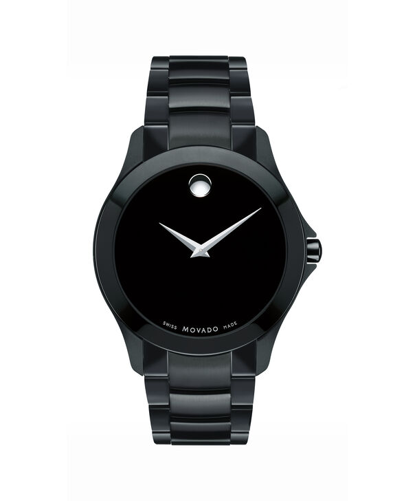 Movado | Masino Men's Black PVD-finished Stainless Steel Watch With Black Dial