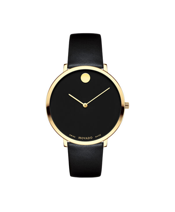 Movado | Movado Women's Mid-size Yellow gold PVD-finished stainless steel watch with Black dial