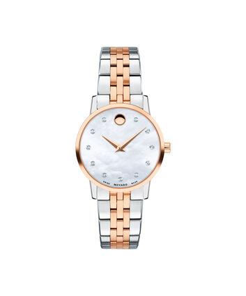 MOVADO Museum Classic0607209 – Montre-bracelet à cadran de 28 mm pour femmes - Front view