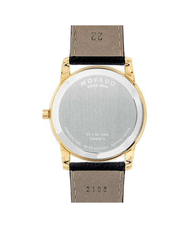 MOVADO Museum Classic0607014 – Men's 40 mm strap watch - Back view