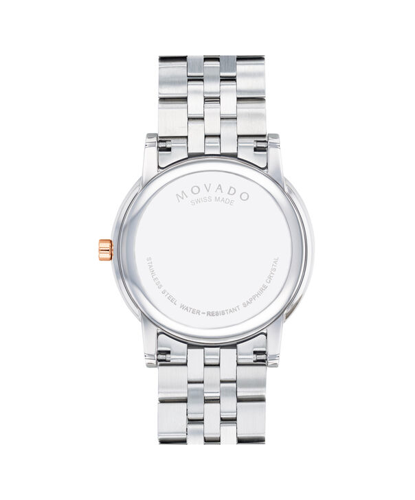 MOVADO Museum Classic0607267 – Montre-bracelet à cadran de 40 mm pour hommes - Back view