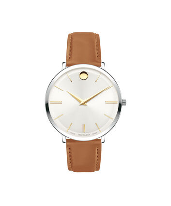 MOVADO Movado Ultra Slim0607371 – Ultra Slim 35 mm, bracelet en cuir - Front view