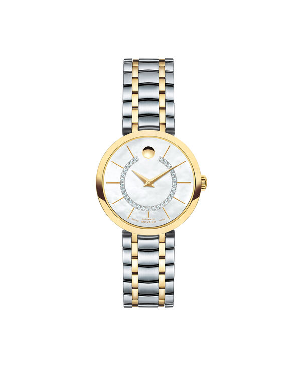 Movado | 1881 Automatic Two-toned Stainless Steel Bracelet watch with silver and diamond