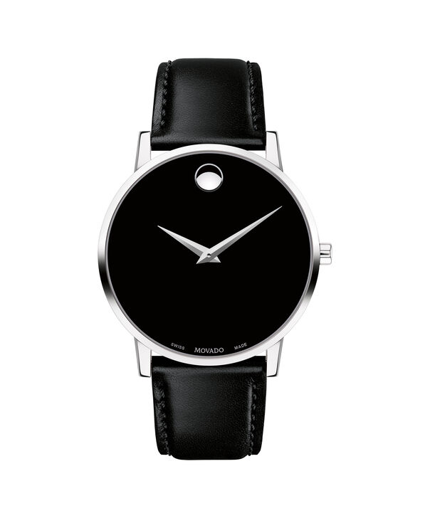 Movado   Museum Classic Men's Stainless Steel Watch With Black Strap