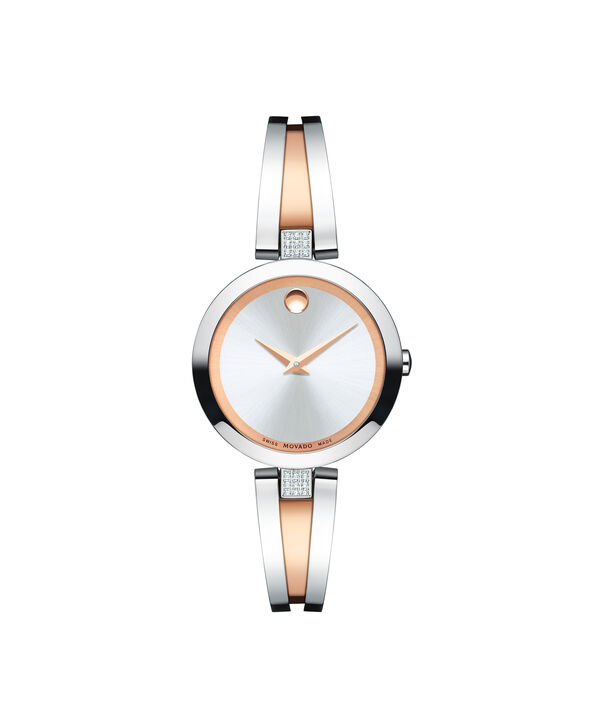 Movado | Aleena Women's stainless steel and red gold PVD-finished Stainless Steel Bangle Watch