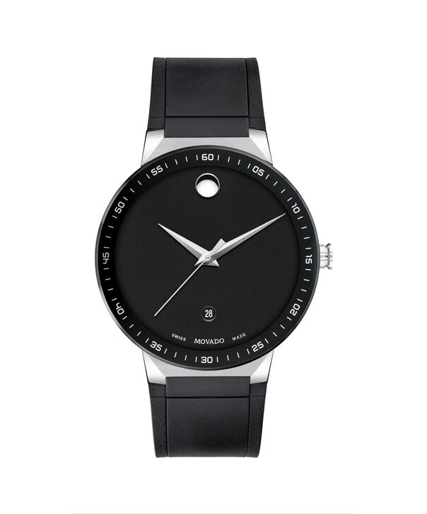 MOVADO Sapphire0607406 – 41mm Sapphire 3H Date on Strap - Front view
