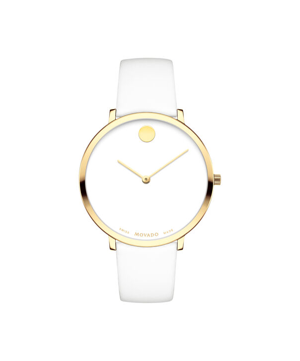 Movado | Movado Women's Mid-size Yellow gold PVD-finished stainless steel watch with white dial