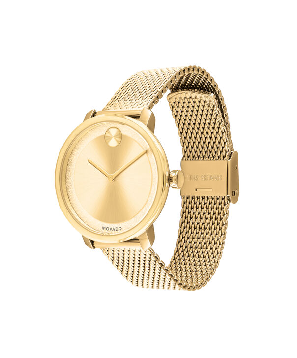 MOVADO Movado BOLD3600580 – 34 mm yellow gold bracelet watch - Side view