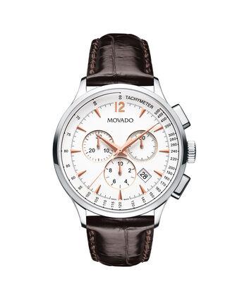 MOVADO Movado Circa0606576 – Chronographe de 42 mm avec bracelet souple pour hommes - Front view