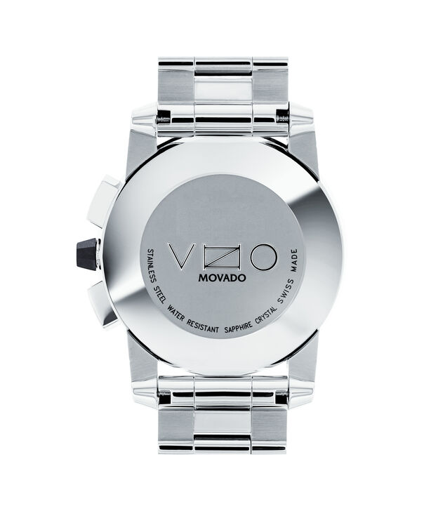 MOVADO Vizio0606551 – Men's 44.5 mm bracelet chrono - Back view