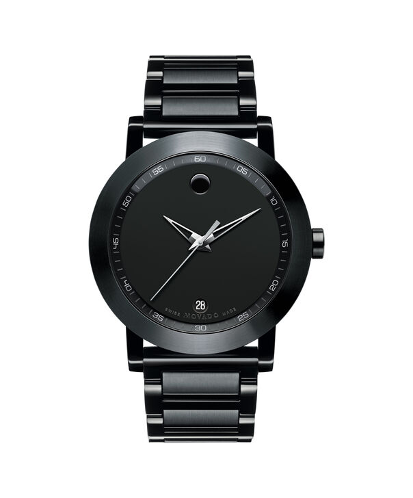 Movado | Acier inoxydable PVD noir Montre-bracelet Musée Hommes