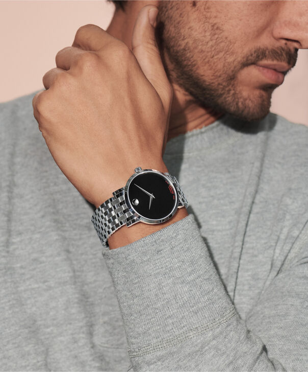 MOVADO Red Label0607008 – Montre-bracelet à cadran automatique de 42 mm pour hommes - Other view