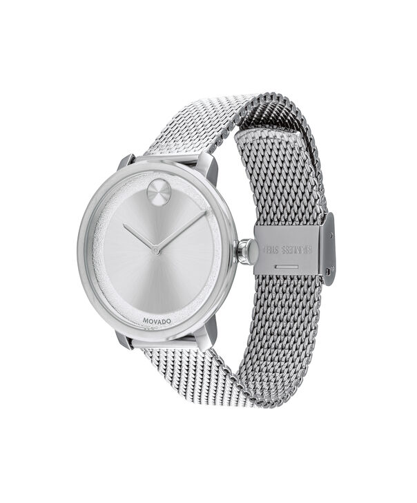 MOVADO Movado BOLD3600579 – 34 mm stainless steel bracelet watch - Side view