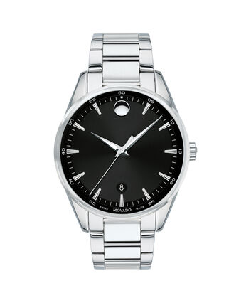 MOVADO Stratus0607243 – Men's 40 mm bracelet watch - Front view