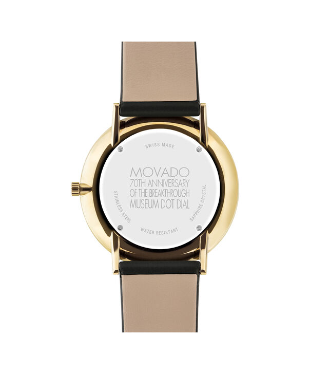 MOVADO 70th Anniversary0607135 – Men's 40 mm strap watch - Back view