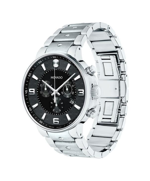 MOVADO SE Pilot0606759 – Men's 42 mm bracelet chronograph - Side view