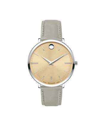 MOVADO Movado Ultra Slim0607372 – 35mm Ultra Slim Leather Strap - Front view