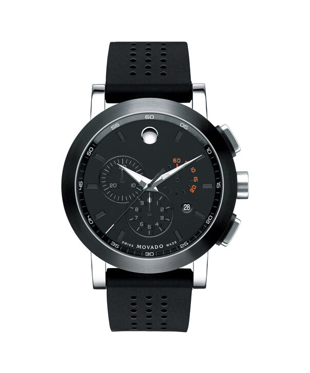 Movado | Museum Men's Black PVD Stainless Steel Chronograph