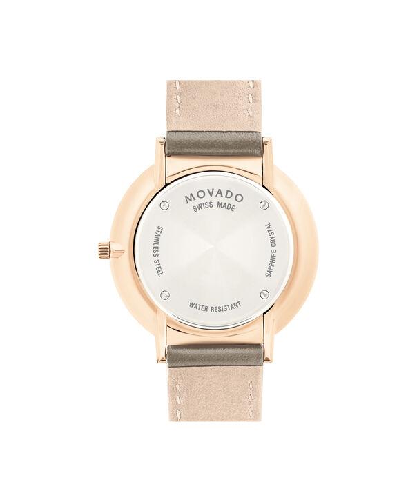 MOVADO Movado Ultra Slim0607374 – NHG 35 mm sur bracelet texturé - Back view