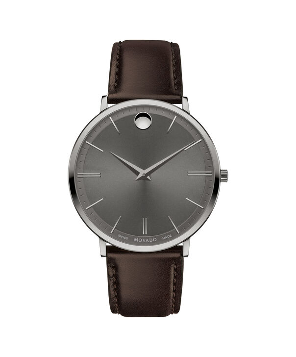 MOVADO Movado Ultra Slim0607377 – 40 mm Ultra Slim on Strap - Front view