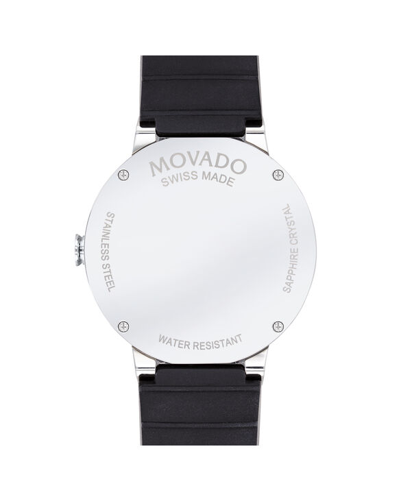 MOVADO Sapphire0607406 – 41mm Sapphire 3H Date on Strap - Back view