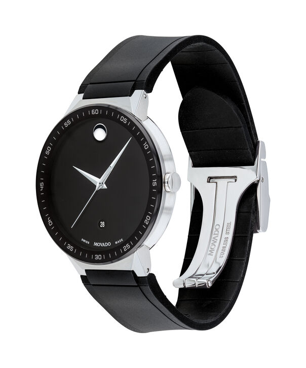 MOVADO Sapphire0607406 – 41mm Sapphire 3H Date on Strap - Side view