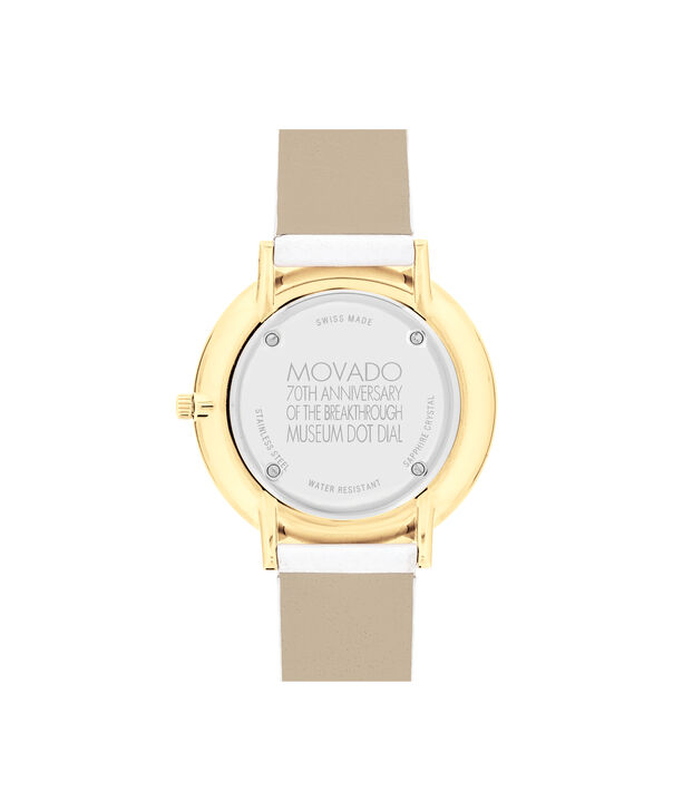 MOVADO 70th Anniversary0607138 – Mid-Size 35 mm strap watch - Back view