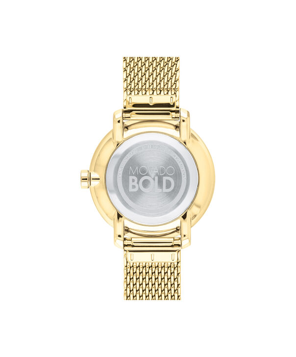 MOVADO Movado BOLD3600580 – 34 mm yellow gold bracelet watch - Back view