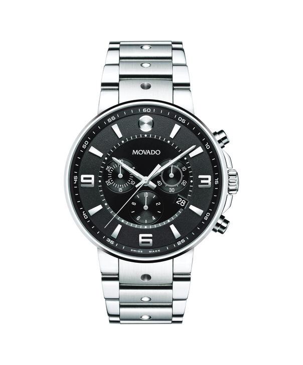 MOVADO SE Pilot0606759 – Men's 42 mm bracelet chronograph - Front view