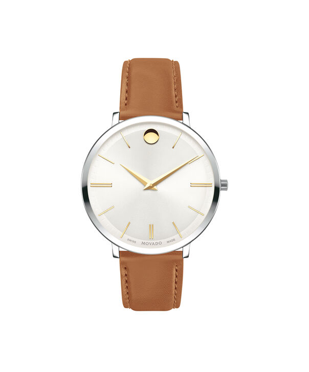 MOVADO Movado Ultra Slim0607371 – 35mm Ultra Slim Leather Strap - Front view