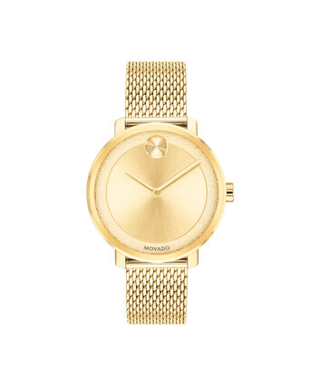 MOVADO Movado BOLD3600580 – 34 mm yellow gold bracelet watch - Front view