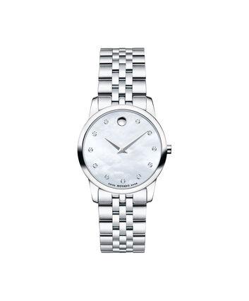 MOVADO Museum Classic0606612 – Montre-bracelet à cadran de 28 mm pour femmes - Front view